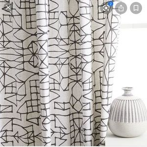 "Pair of West Elm Curtains 48""x84"""